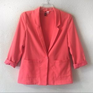 H&M Divided coral blazer